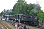 Krakonošovy letní podvečery v roce 2013, dojet do Jilemnice jste mohli parním vlakem