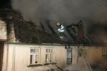 FOTO: Milionová škoda po požáru domu v Levínské Olešnici