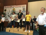Zleva Stephane Bouton (Francie), Petr Mozola a Robert Tomáš (oba Česko)