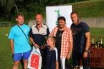 Fotbalový turnaj O pohár starosty obce Slaná - pořadatelský tým včetně rozhjodčích