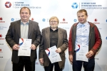 Živnostník roku 2014 Libereckého kraje: Jan Hradecký (2.místo), Jaroslav Skuhravý (1.místo), Petr Klamt (3.místo)