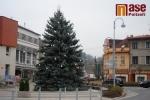 Vánoční strom na Riegrově náměstí v sobotu den před rozsvícením