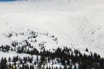Cesta Modrým dolem směrem k Výrovce po úterním pádu laviny
