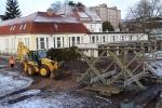 Zahájení výstavby provizorního přemostění Nerudova - Nádražní ve Vrchlabí