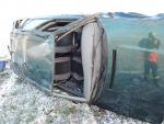 Nehoda po ranní námraze u Turnova