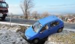 Nehoda po ranní námraze u Kozákova