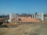 Probíhající stavba rekreačního a sportovního areálu v Maškově zahradě v Turnově