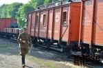 Zastavení legionářského vlaku v železniční stanici Martinice v Krkonoších