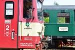 Jízda Krakonošova parního vlaku, zastávky Vrchlabí a Kunčice