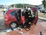 Požár osobního auta v Turnově