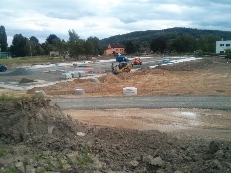 Aktuální stav výstavby sportovně-rekreačního areálu Maškova zahrada v Turnově<br />Autor: Odbor správy majetku MěÚ Turnov