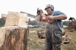 Dřevosochání ve Šťastné zemi v Radvánovicích 2015
