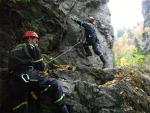 Výcvik lezeckého družstva HZS Libereckého kraje stanice Liberec na Riegrově stezce u Semil