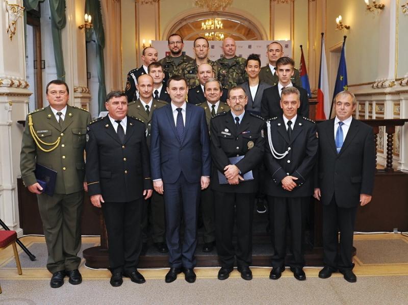 Slavnostní předávání Záslužných medailí IZS Libereckého kraje
