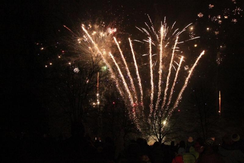 Novoroční ohňostroj v Turnově Zdeňka Pohla