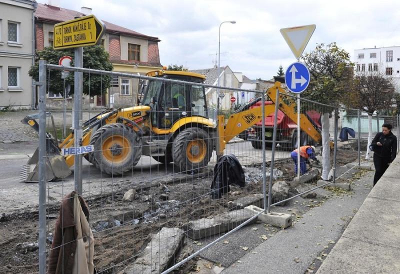 Turnov - ulice 28. října rekonstrukce<br />Autor: Pavel Charousek