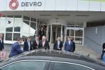 Prezident při návštěvě firmy Devro