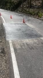 Opravené poklesy na silnici v Hájích nad Jizerou