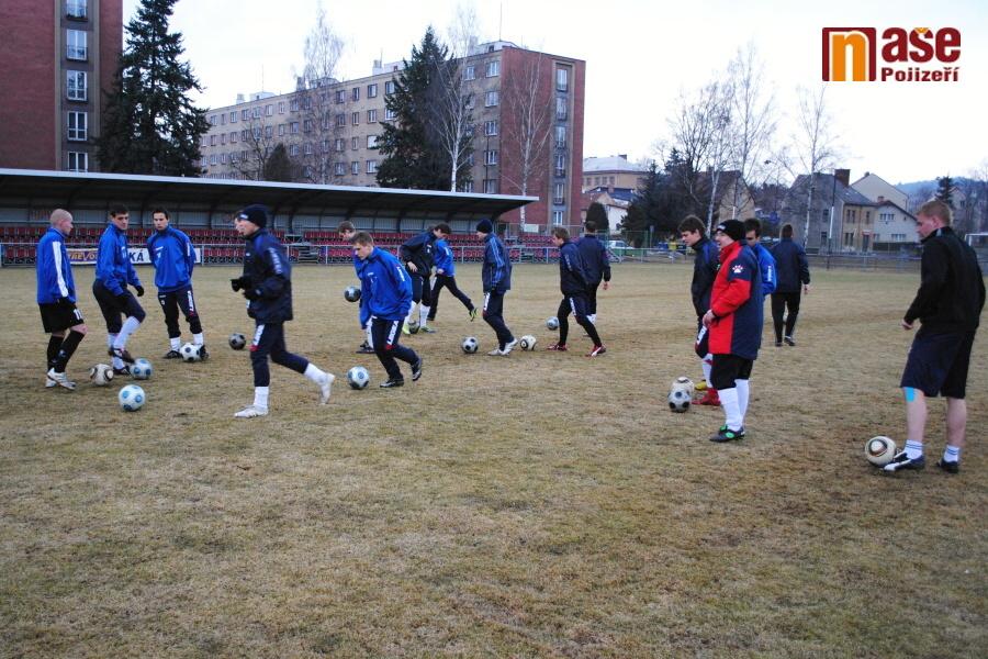 Trénink fotbalistů SK Semily