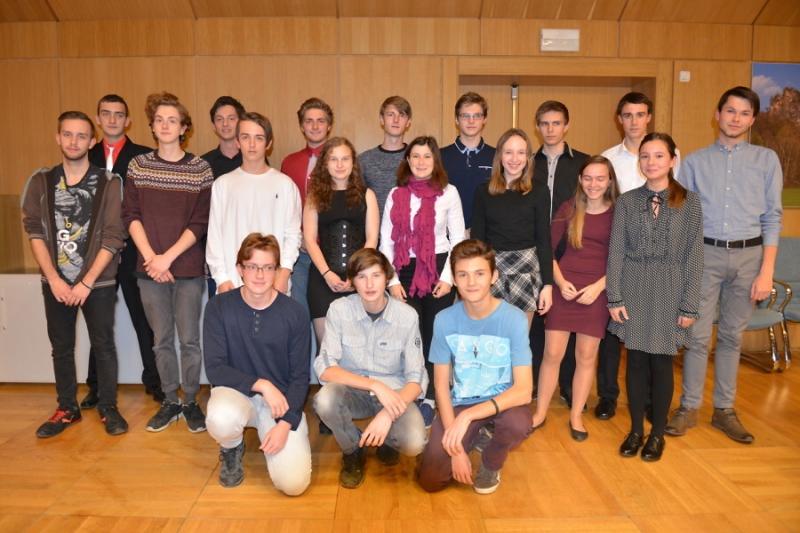 Všichni ocenění studenti<br />Autor: Archiv KÚ Libereckého kraje