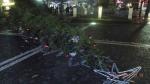 Spadlý vánoční strom na náměstí v České Lípě