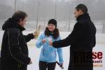Slavnostní otevření mobilního ledového kluziště v Semilech