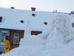 Aktuální fotografie ze stavby Krakonoše z pátka dopoledne 6. ledna