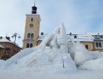 Snímky sněhového Krakonoše po dokončení ze středy 11. ledna