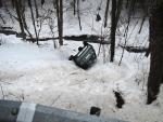 Nehoda osobního automobilu v Poniklé