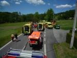 Nehoda ve Smrčí, která si vyžádala celkem sedm zraněných
