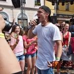 Zpěvák Pavel Callta na Krkonošských pivních slavnostech v Jilemnici