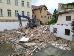 Demolice části muzejní budovy