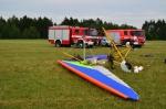 Na letišti v Hodkovicích spadlo motorové rogalo, jsou dva zranění