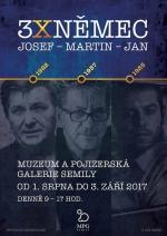 Plakát na výstavu 3x Němec