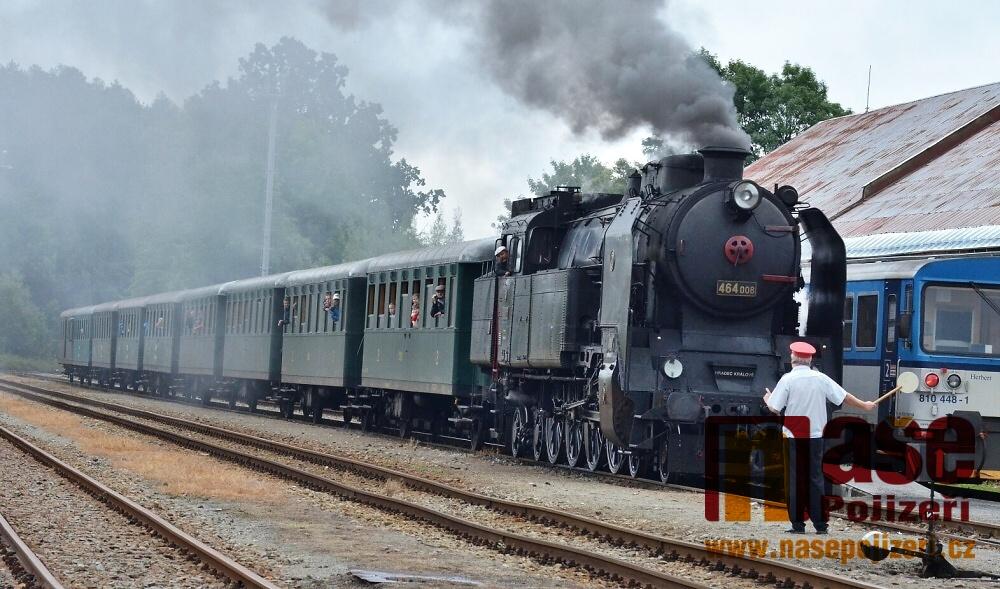 Den železnice na vrchlabském nádraží