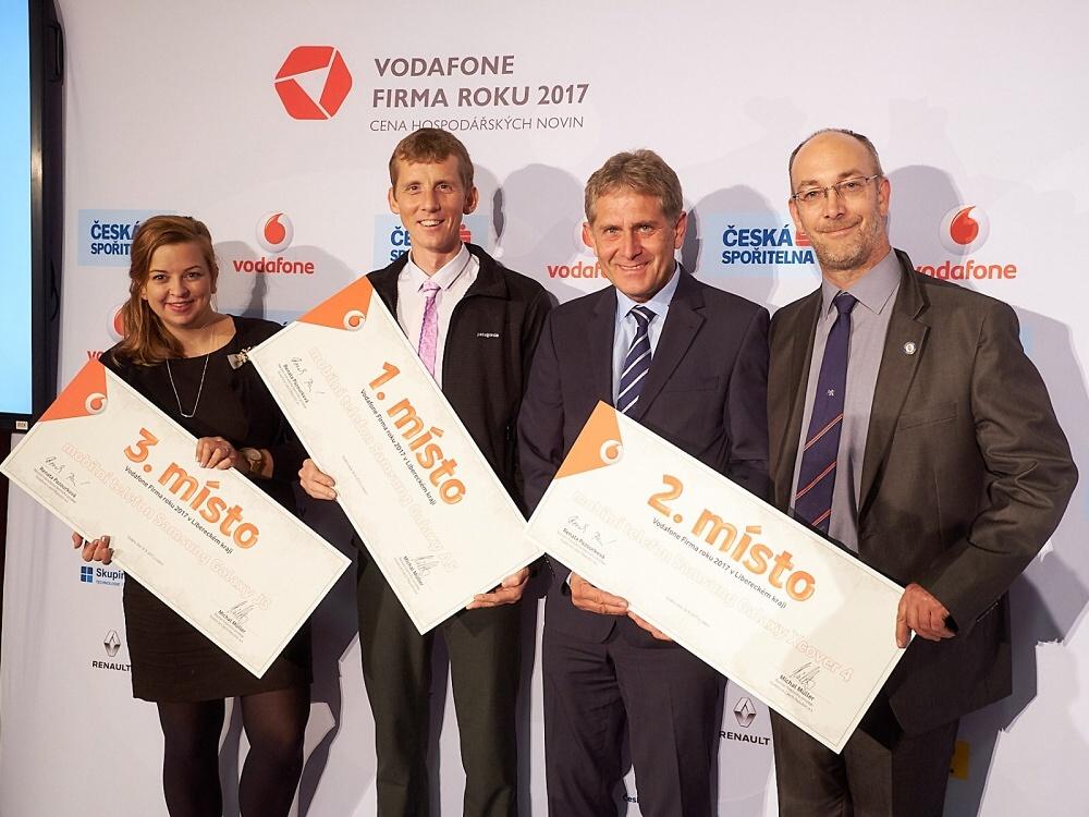 Slavnostní vyhlášení ankety Firma a živnostník roku 2017 Libereckého kraje<br />Autor: Archiv Vodafone Firma roku