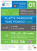 Plakát platba parkovného pomocí SMS