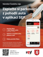 Plakát platba parkovného v aplikaci Sejf