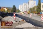 Výstavba kruhových křižovatek v Semilech - snímky 16. 10. 2017