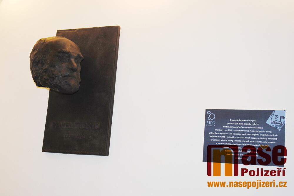 Odhalení busty Pavla Tigrida v semilském muzeu a zahájení výstavy Slovy proti totalitám<br />Autor: Petr Ježek
