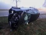 Nehoda skútru s osobním autem u Karlovic-Sedmihorek