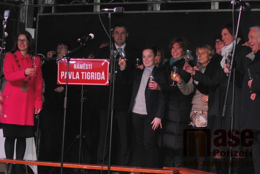 Slavnostní pojmenování náměstí Pavla Tigrida v Semilech<br />Autor: Petr Ježek