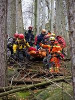 Teoretický i praktický výcvik hasičů-lezců z Libereckého kraje