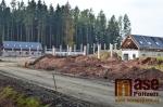 Výstavba areálu Hraběnka Jilemnice v říjnu 2017