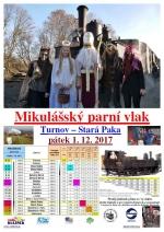 Mikulášské parní vlaky letos jezdí hned na několika tratích