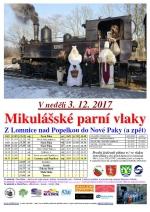 Mikulášské parní vlaky z Lomnice do Nové Paky