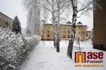 Procházka městem Semily po napadnutí prvního sněhu v sezoně