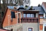 Poškozená střecha v Jesenném