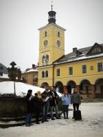 Rozdávání Betlémského světla na Masarykově náměstí v Jilemnici