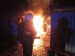 Požár kontejnerů v Jablonci